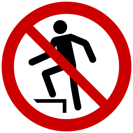 Prohibition sign vector  no stepping on surface
