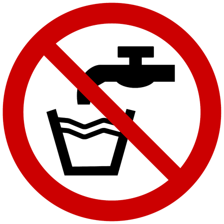 Prohibition sign vector- not drinkable water, do not drink water