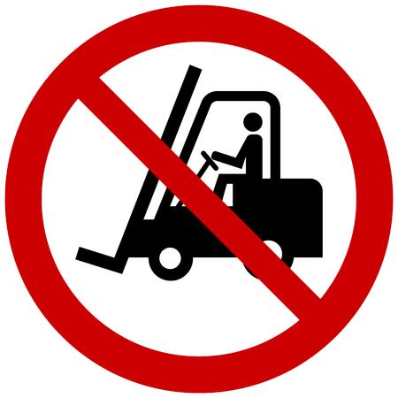 Vector prohibition sign - no forklift