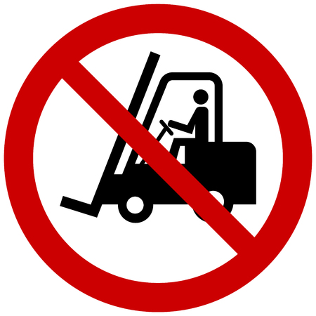 Vector prohibition sign - no forklift