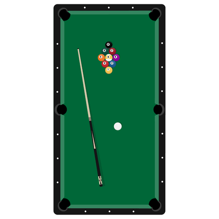 A Realistic Billiards Pool Table Illustration Red Felt Top With - Composite pool table