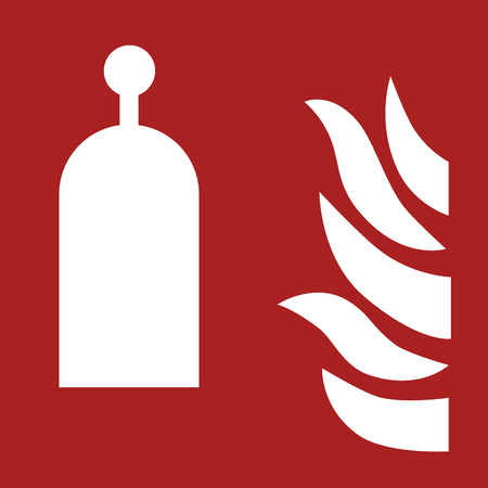 Fire equipment sign vector  of  Remote release station label, sticker Ilustrace