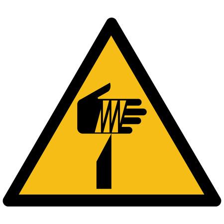 Yellow warning sign vector - sharp element symbol, label, sticker  イラスト・ベクター素材