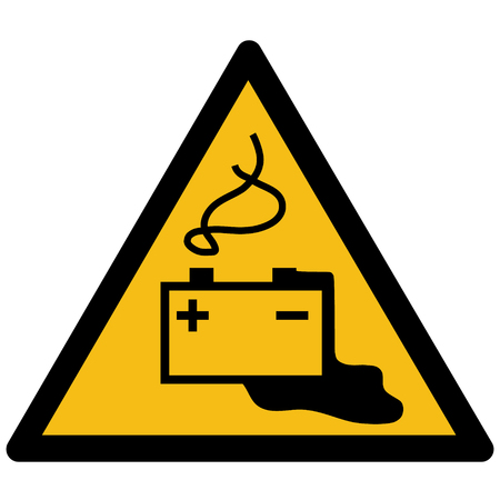 Warning sign vector - Battery charging symbol, sticker, label