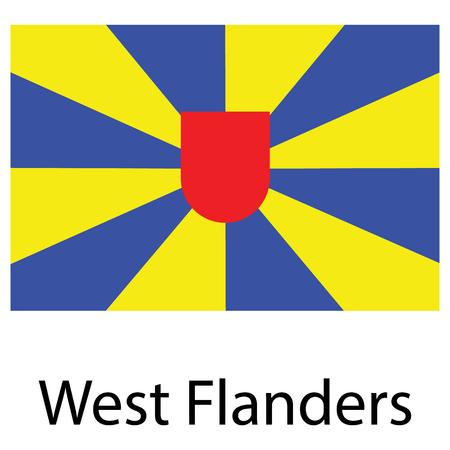 Vector icon flag West Flanders, Flemish Region, Belgium Vektorové ilustrace