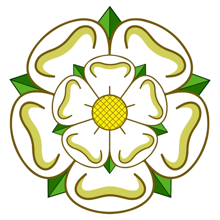 Vector East riding of Yorkshire heraldic rose
