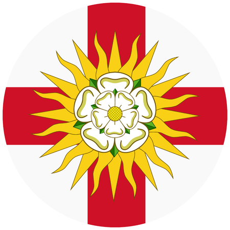 Vector West Riding of Yorkshire round flag, England