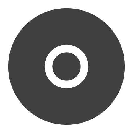 Simple flat cd disc vector icon. Disk sign, symbol