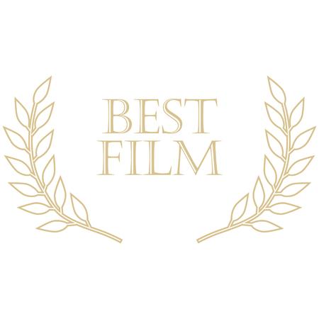 Vector illustration film award best film laurel wreath