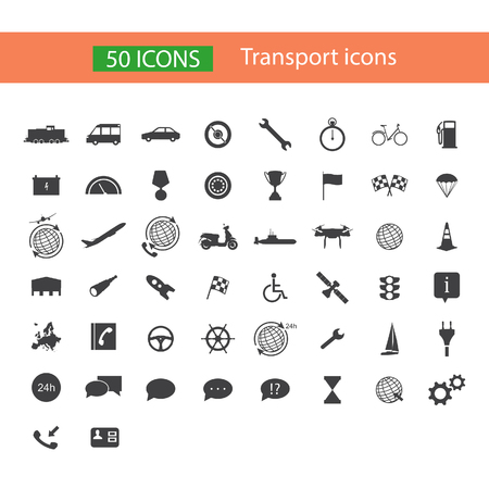 Transport vector icon set, collection