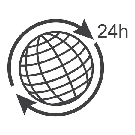 Earth, globe vector icon. Simple flat symbol. Pictogram