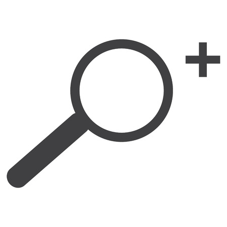 Vector icon zoom in effect. Magnifying glass sign, symbol