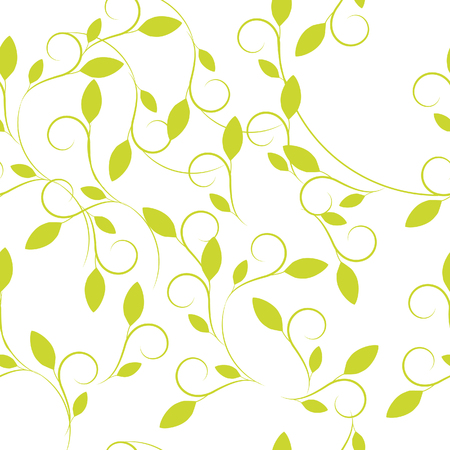 Vector floral seamless pattern for cosmetics, beauty products, organic and healthy food with leaves - modern ornaments