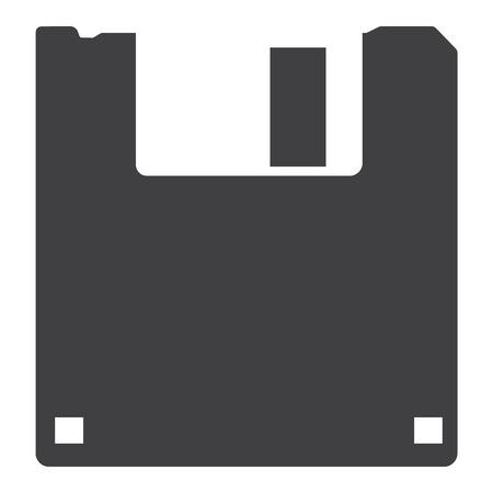 Floppy disk vector icon. Memory sign, symbol