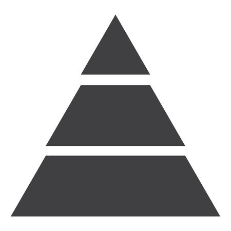 Pyramid Graph Raster Icon. Infographic chart