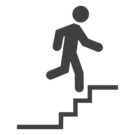 Upstairs raster icon sign. Career symbol, sign. Flat design. Banque d'images - 106055886