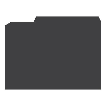 Simple flat file folder raster icon. File sign, symbol Stock Photo