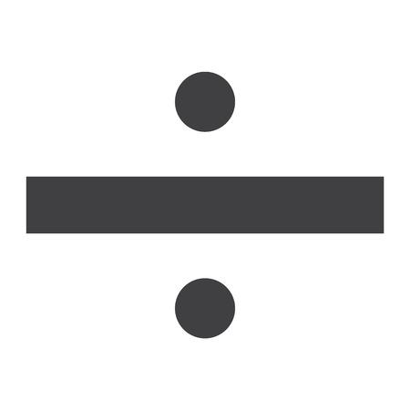 Divide math sign, symbol. Obelus raster icon. Mathematic Banco de Imagens - 106055930