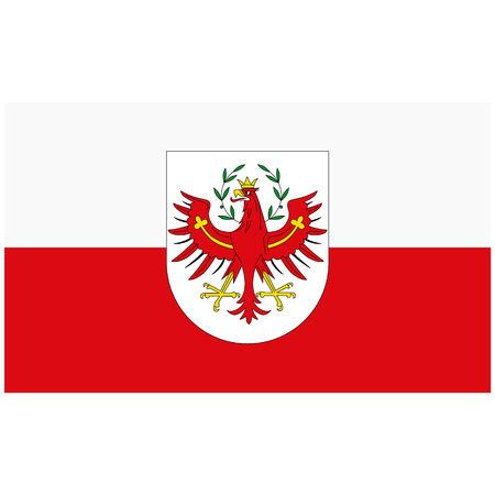 Raster icon flag of Tyrol isolated on white background. Tyrol federal state of Austria