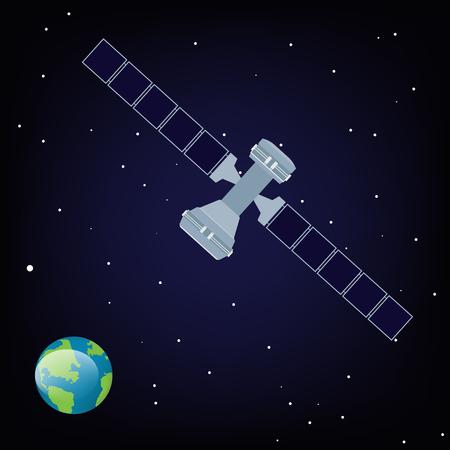 Satelita rastrowy krąży wokół Ziemi Zdjęcie Seryjne