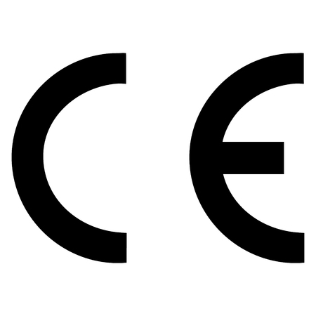 CE mark symbol, sign. raster illustration