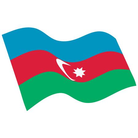 Vector illustration waving flag of Azerbaijan icon. Azerbaijan flag button isolated on white background Illustration