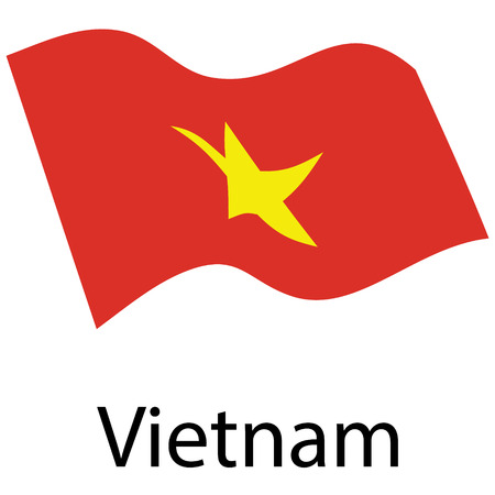 Flag of Vietnam. Vector. Accurate dimensions, elements proportions and colors.