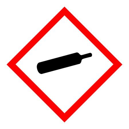 Illustration vectorielle signe de gaz comprimé isolé sur fond blanc. Vecteurs