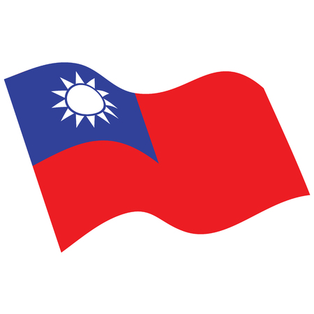 Flag of Taiwan. Vector. Accurate dimensions, element proportions and colors.