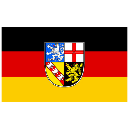 Flag of Saarland state of Germany. Vector illustration.