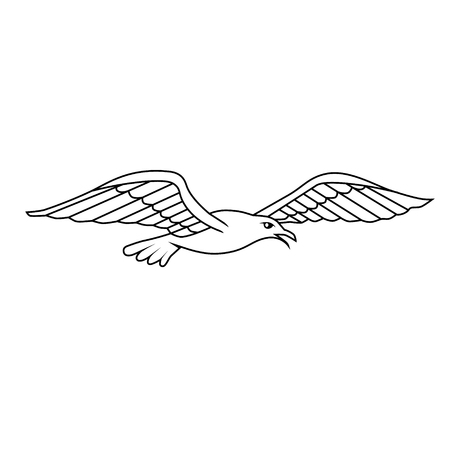 Heraldic design element - Albatros. Vector illustration Illustration