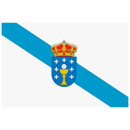 Vector flag of Spain autonomous community Galicia.