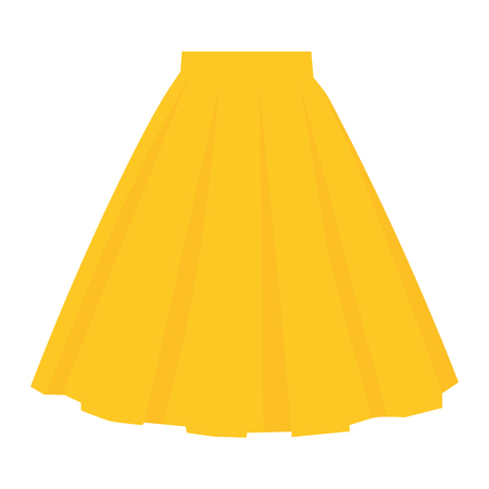 Vector yellow skirt template, design fashion woman illustration. Women bubble skirt Ilustracja
