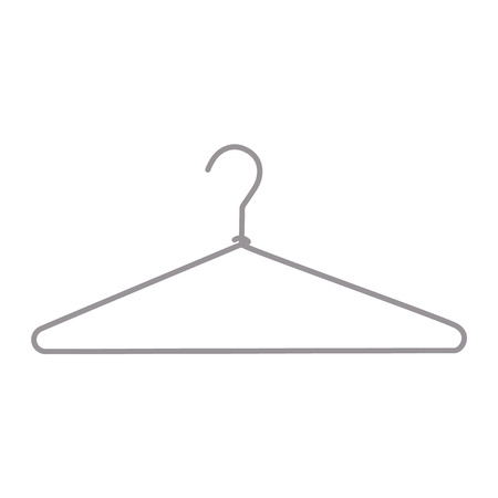 Metal wire hanger, clothes hangers on a white background.