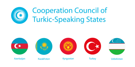 Raster flag Cooperation Council of Turkic- Speaking States