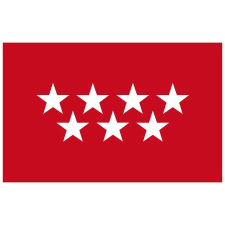 Raster flag Spain autonomus community Madrid.