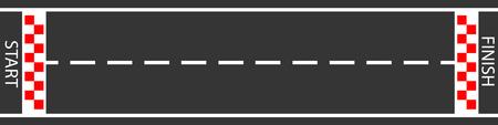 raster ilustracja mety wyścigi tło widok z góry. Rozpocznij lub zakończ w wyścigu gokartowym. Droga asfaltowa.