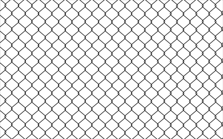 Chain link Fence. Seamless pattern, background Stock Illustratie