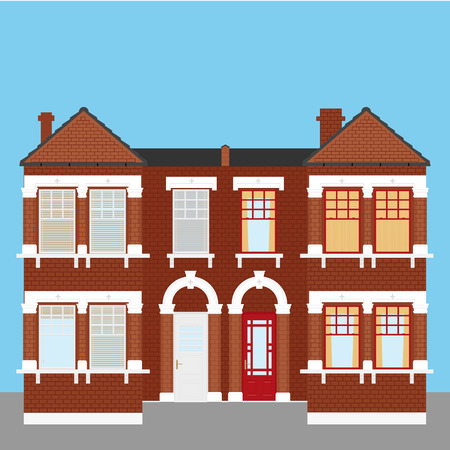 Old vintage house facade Ilustrace