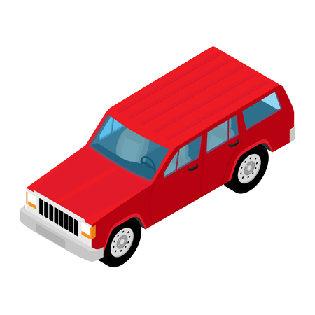 car icon. Isometric city transport.