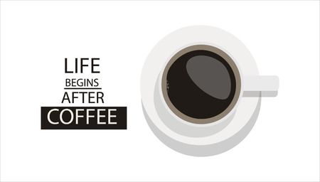 Coffee Poster Advertisement Flayers. Life begins after coffee Ilustrace