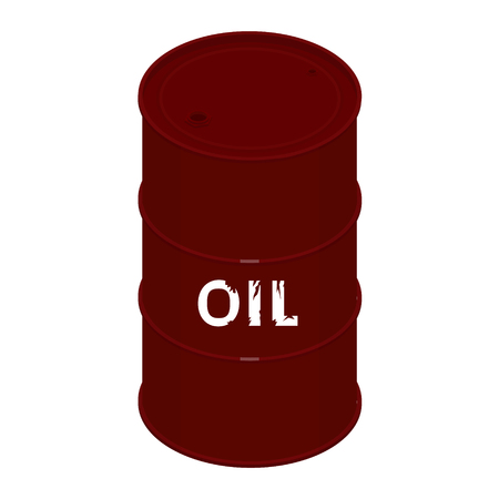 Blank realistic oil barrel with text oil Vetores