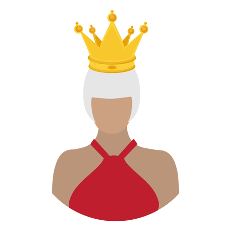 Royal family queen in crown. Monarch. Famous people. raster character 스톡 콘텐츠