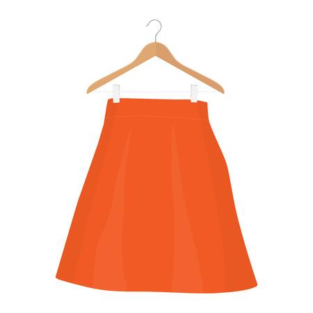 Skirt template, design fashion woman illustration - women skirt