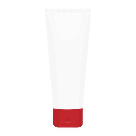 White plastic tube for medicine or cosmetics - cream, gel, skin care, toothpaste. Banco de Imagens - 122318463