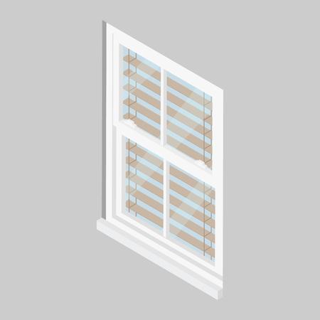 Close window isometric view