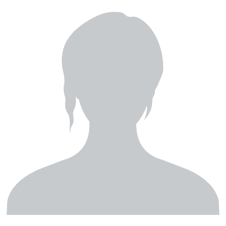 Icono de perfil de avatar predeterminado. Marcador de posición de foto gris
