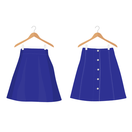 Skirt template collection, design fashion woman illustration - women skirt