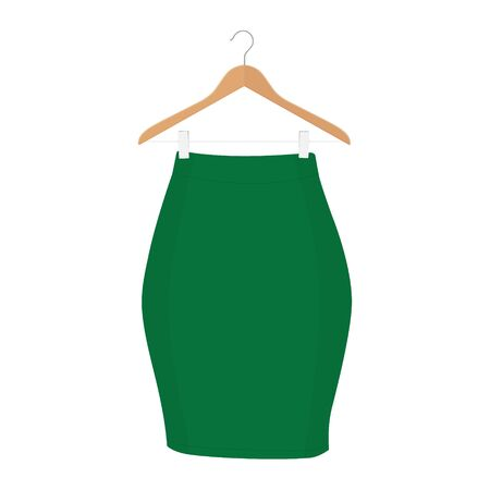 Skirt template collection. Elegant fashion woman skirt design - women skirt