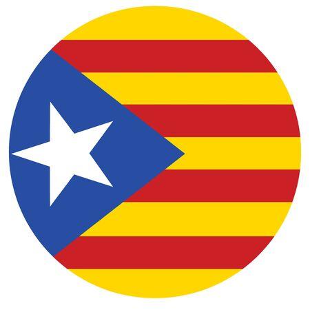 raster flag of Catalonia. Catalonian flag. Autonomous community in Spain Banco de Imagens